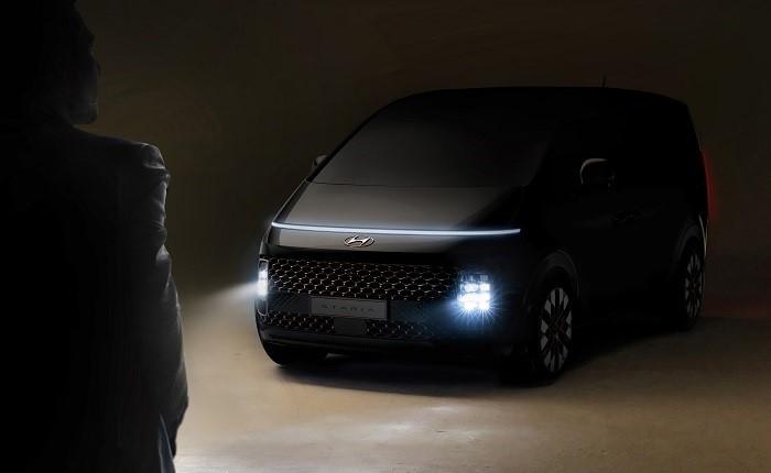 Hyundai Motor публикует первое изображение нового минивэна STARIA с роскошным футуристичным дизайном